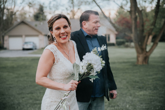 Small Covid-19 Backyard Wedding | Belleville, MI