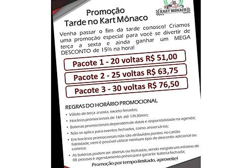 Promoção Tarde no Kart Mônaco