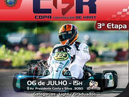 3.ª Etapa Copa Fortaleza de Kart no Kart Mônaco Fortaleza dia 06/07/2019 (sábado) às 15h