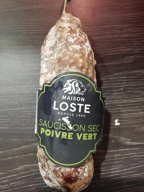 saucisson de porc poivre vert
