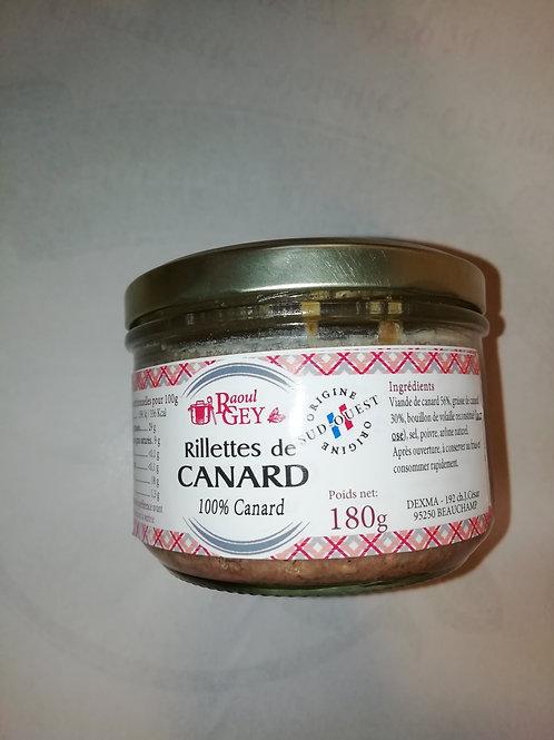 rillettes de canard 100% canard 180g