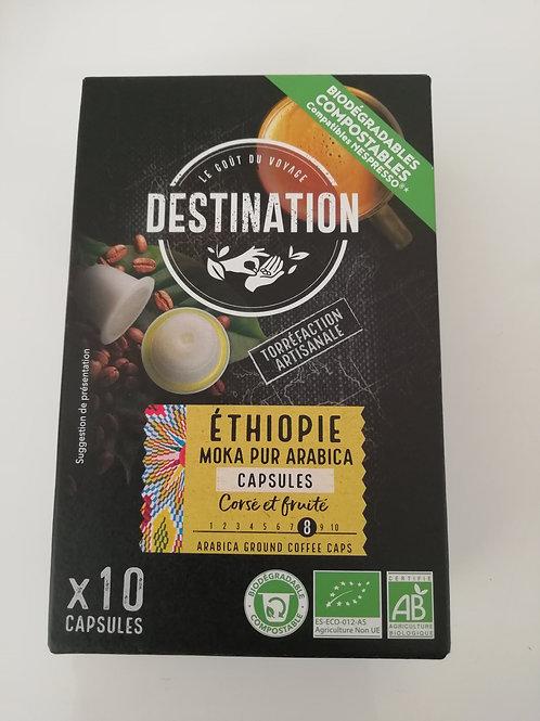 capsules  X10 BIO moka pur arabica 55g(compatible nespresso)