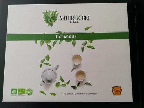 coffret d'infusions nature et BIO 96g (56 sachets)