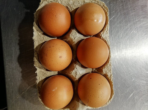 oeuf de poule  de ferme n1   boite de 6 oeufs