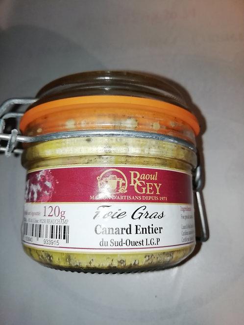 foie gras de canard entier du sud ouest IGP 120 g