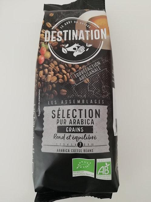 café pur arabica en grains Bio 250g