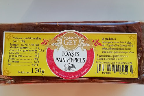 toasts pain d'épices 150g