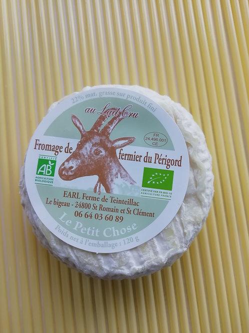 le petit chose BIO fromage de chèvre 120 g au lait cru