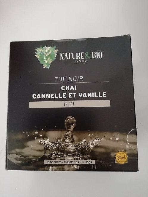 thé noir cannelle ,vanille BIO 30g