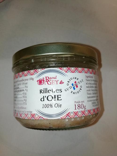 rillettes d'oie 100% oie 180 g