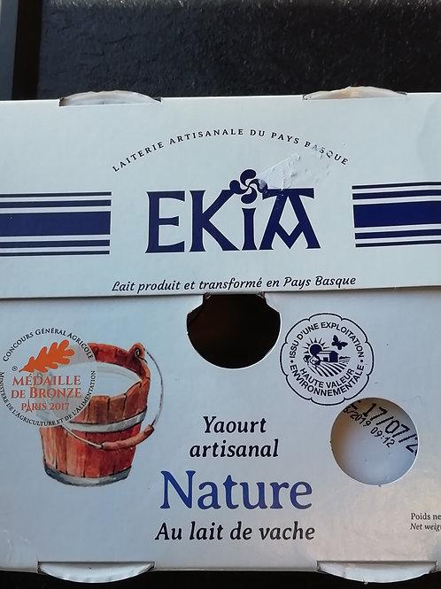 yaourt nature  vache ekia