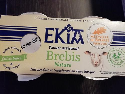 EKIA YAOURT DE BREBIS ARTISANAL NATURE X2
