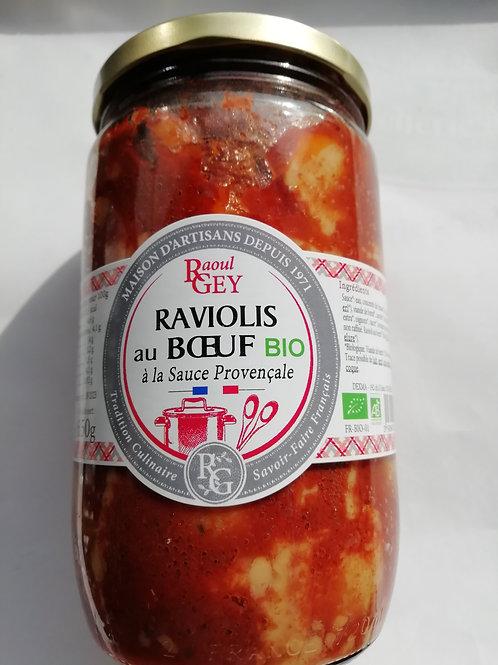 raviolis au boeuf BIO à la sauce provençale 720ml