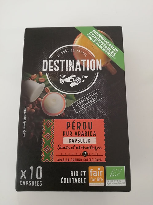 capsules  X10 BIO  pur arabica   55g(compatible nespresso)