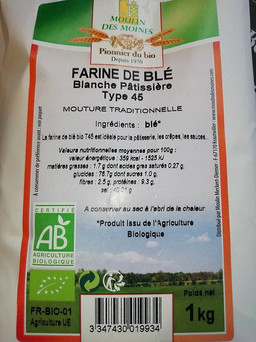 Farine de blé T45 BIO  1kg