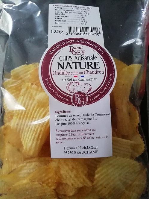 Chips ondulée cuite au chaudron ARTISANALE 125G