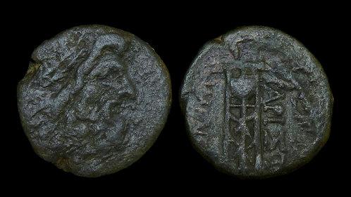 ILLYRIA, Dyrrhachion . Early-mid 1st century BC . AE18 . Zeus / Tripod . Ex BCD