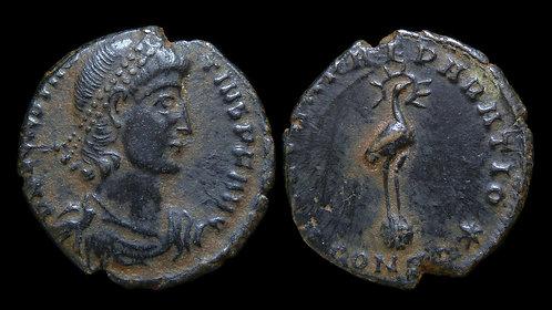 CONSTANTIUS II . AD 337-361 . AE3 . Phoenix . Constantinople