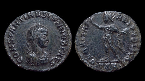 """CONSTANTINE II, as Caesar . AD 316-337 . AE3 . CLARITAS (""""Radiance"""")"""