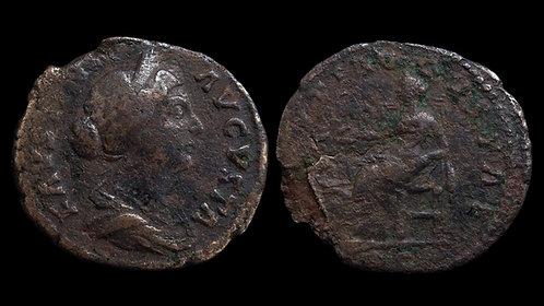 "FAUSTINA II . AD 161-175 . As . ""Salus"" . Budget bronze"
