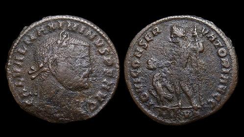 "MAXIMINUS II DAIA . AD 310-313 . Follis . ""Jupiter standing"" . Nicomedia"