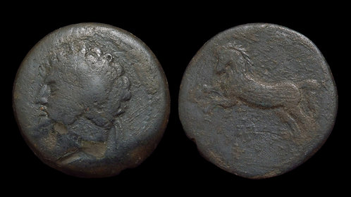 NUMIDIAN KINGDOM . Massinissa or Micipsa . 203-148 BC / 148-118 BC . AE27