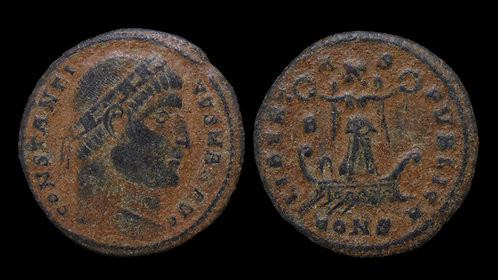 CONSTANTINE I . AD 306-337 . AE3 . Scarce . Commemorating Crispus's victory