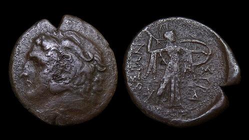 SICILY, Syracuse . Pyrrhos of Epeiros, 278-276 BC . AE24 . Athena