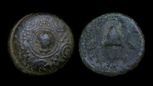 MACEDONIA, KINGDOM OF . Philip III - Alexander IV, c. 323-310 BC . AE15 . Shield