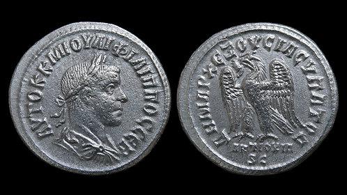 PHILIP II . SYRIA, Seleucis and Pieria, Antioch mint . AR Tetradrachm