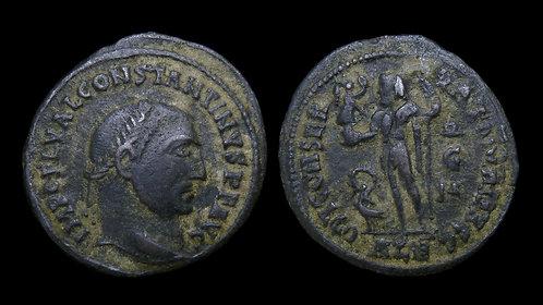 "CONSTANTINE I . AD 306-337 . AE Follis . ""Jupiter"" . Alexandria mint"