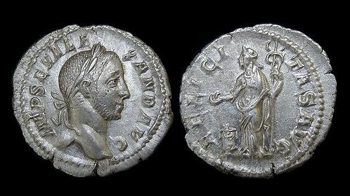SEVERUS ALEXANDER . AD 222-235 . AR Denarius . Felicitas . Ex Kelly Collection
