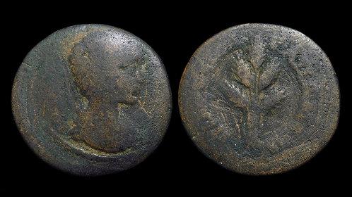 JULIA DOMNA . PHRYGIA, Apameia . AE24 . Five ears of grain bundled
