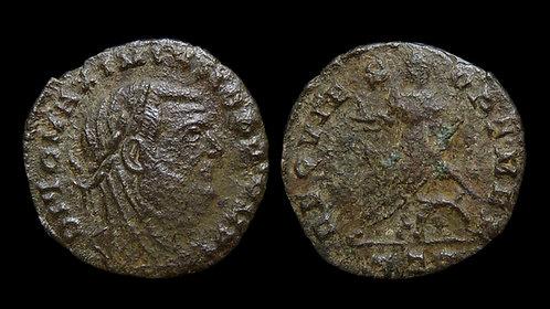"""MAXIMIANUS, Posthumous . AD 286-305 . 1/4 Follis. """"Emperor seated"""" . Rare"""