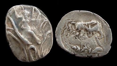CRETE, Gortyna . 330-270 BC . AR Stater . Europa . **Rare and interesting**