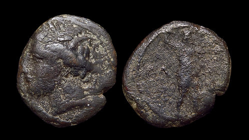 MESSENIA, Messene . 130-80 BC . AE17 . *Ex BCD Collection* . *Extremely Rare*