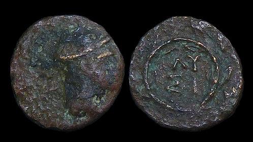 THRACE, Lysimachia . Circa 309-220 BC . AE10 . Hermes . Founded by Lysimachos