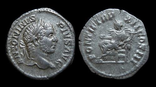 """CARACALLA . AD 198-217 . Denarius . """"Concordia"""" . Nice portrait"""