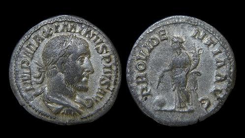 MAXIMINUS THRAX . AD 235-238 . AR Denarius . Providentia