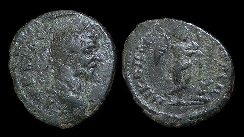SEPTIMIUS SEVERUS . MOESIA INFERIOR, Nicopolis ad Istrum . AE18 . Winged Eros