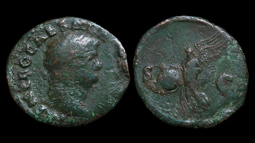 NERO . AD 54-68 . AE As . Flying Victory