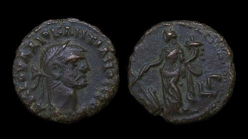 DIOCLETIAN . EGYPT, Alexandria . Potin Tetradrachm . Tyche
