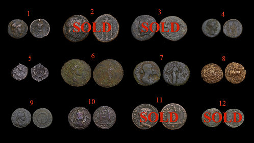 Pick Bin Selection #2 . Ancient Greek & Roman Coins . Your choice - $8 per coin