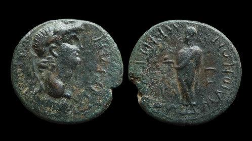 NERO . LYDIA, Maeonia . AE18 . Zeus