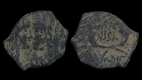 NABATAEAN KINGDOM . Rabbel II & Shuqailat II . AD 71-106 . AE19 . *scarce type*