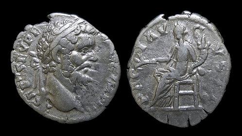 """SEPTIMIUS SEVERUS . AD 193-211 . Denarius . """"PACI AVGVSTI"""""""