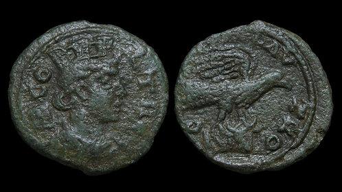 PSEUDO-AUTONOMOUS . TROAS, Alexandria Troas . AD 251-260 . AE22 . Tyche / Eagle