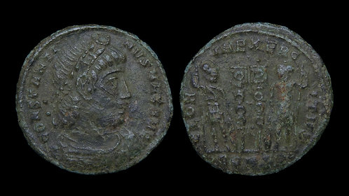 "CONSTANTINE I . AD 306-337 . AE3 . ""Glory of the Army"""