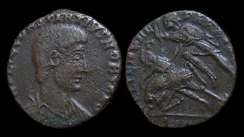CONSTANTIUS GALLUS, Caesar . AD 351-354 . AE2 . Falling horseman