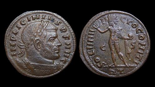 """LICINIUS I . AD 308-324 . Follis . """"Sol standing"""" . Rome"""